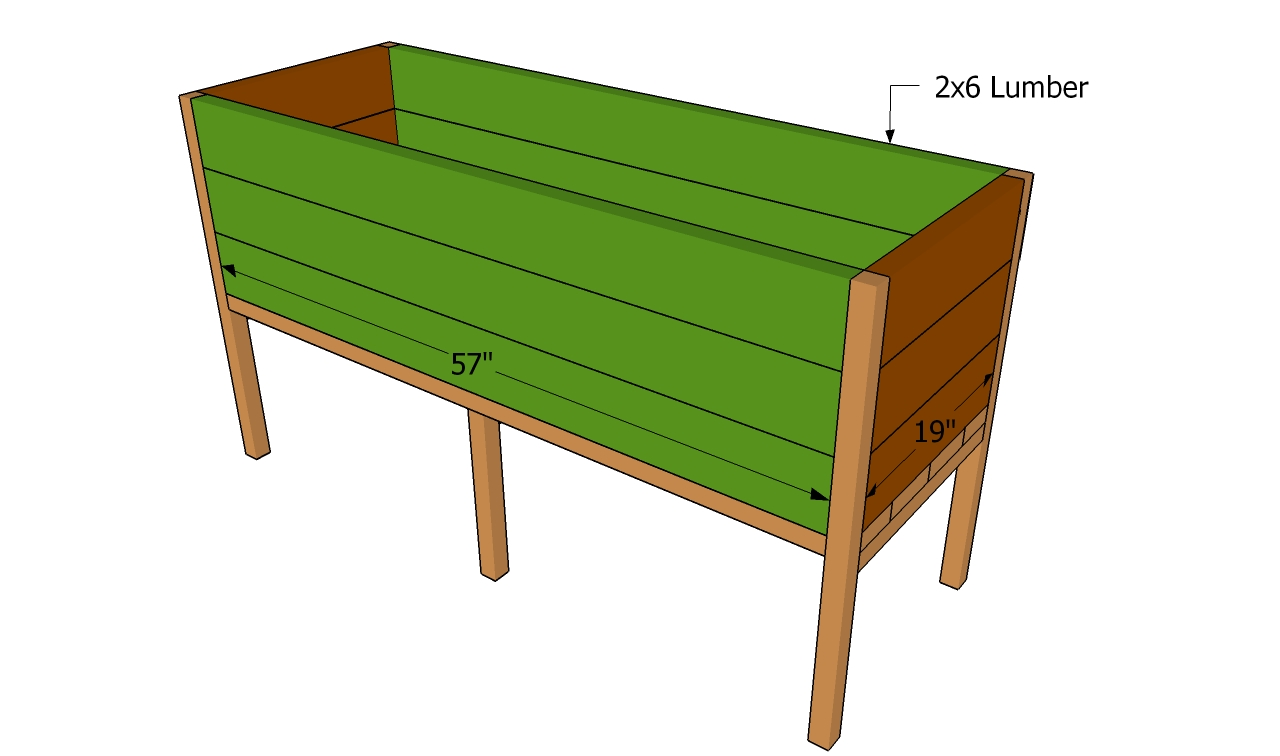 Raised Planter Box Plans | Free Outdoor Plans - DIY Shed, Wooden ...