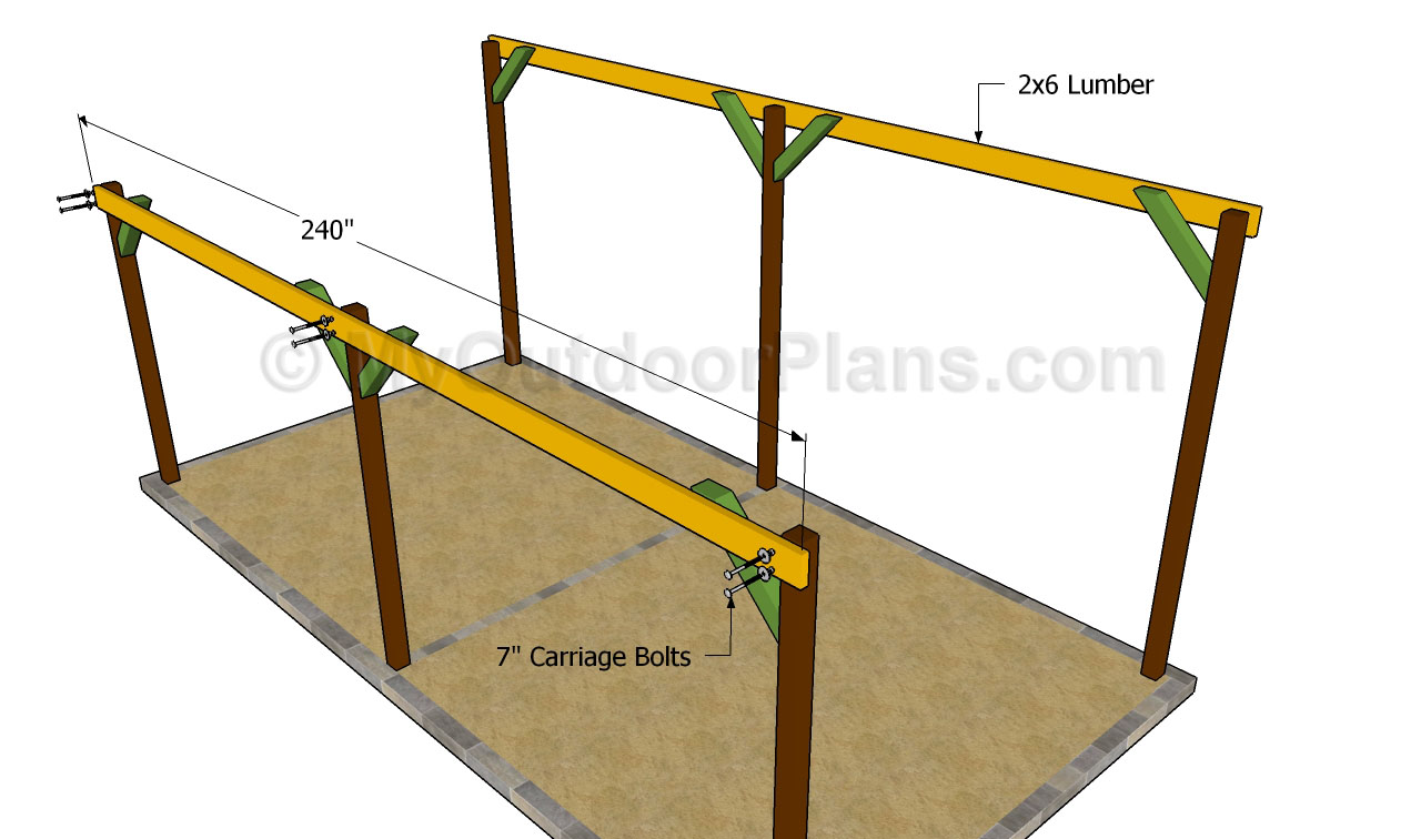 attached 2 car carport plans DIY Woodworking PDF Plans