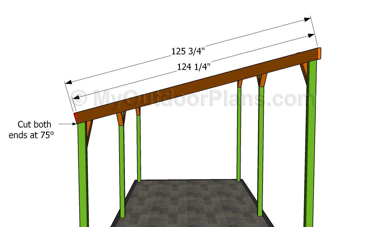Wood work lean to carport plans pdf plans for Lean to carport plans