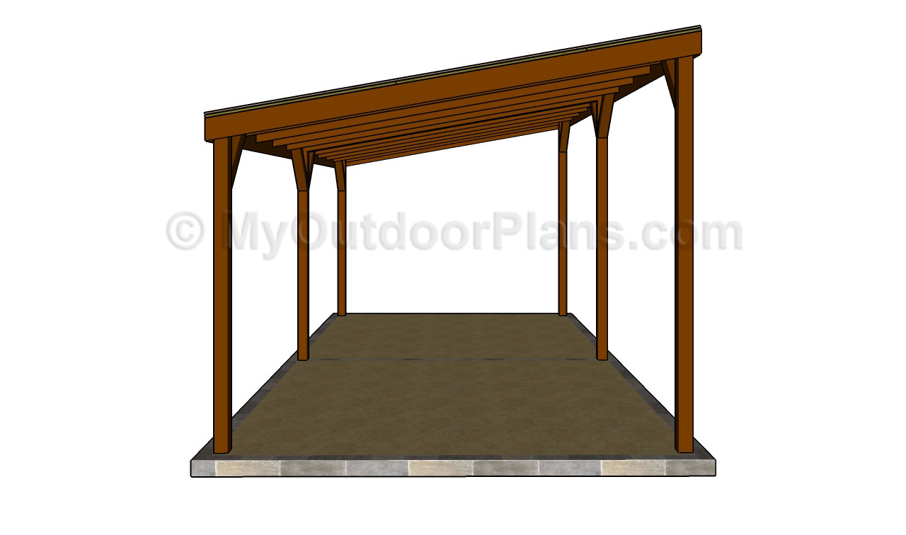 Double carport plans myoutdoorplans free woodworking for Carport blueprints