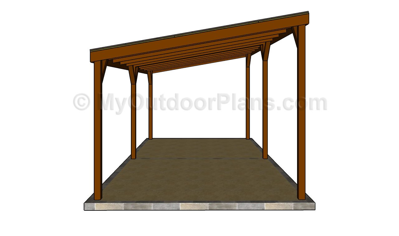double carport plans myoutdoorplans free woodworking