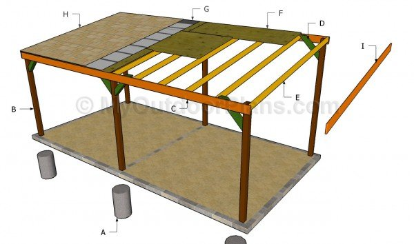 Carport plans free myoutdoorplans free woodworking for 4 car carport plans