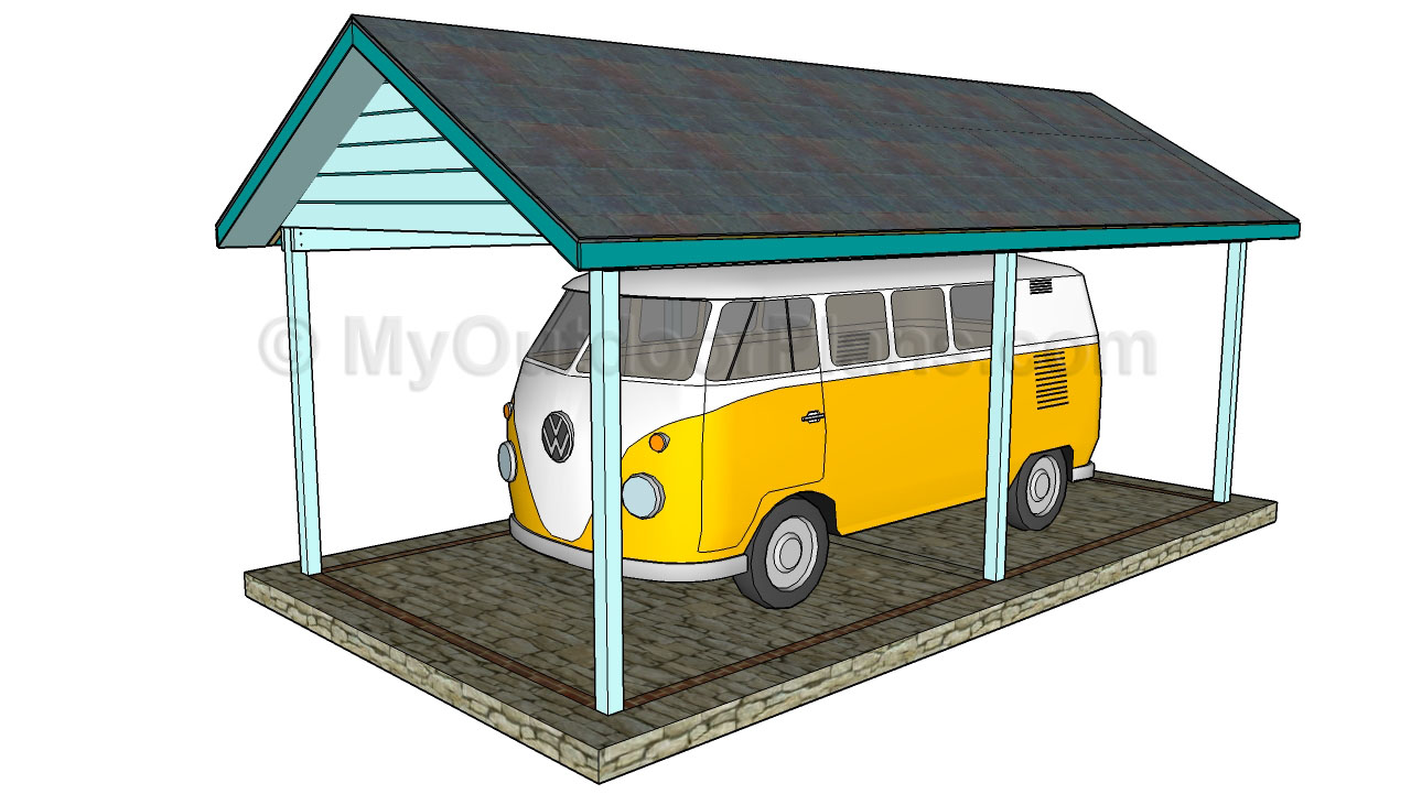Simple Carport Plans : Wood carport designs free outdoor plans diy shed
