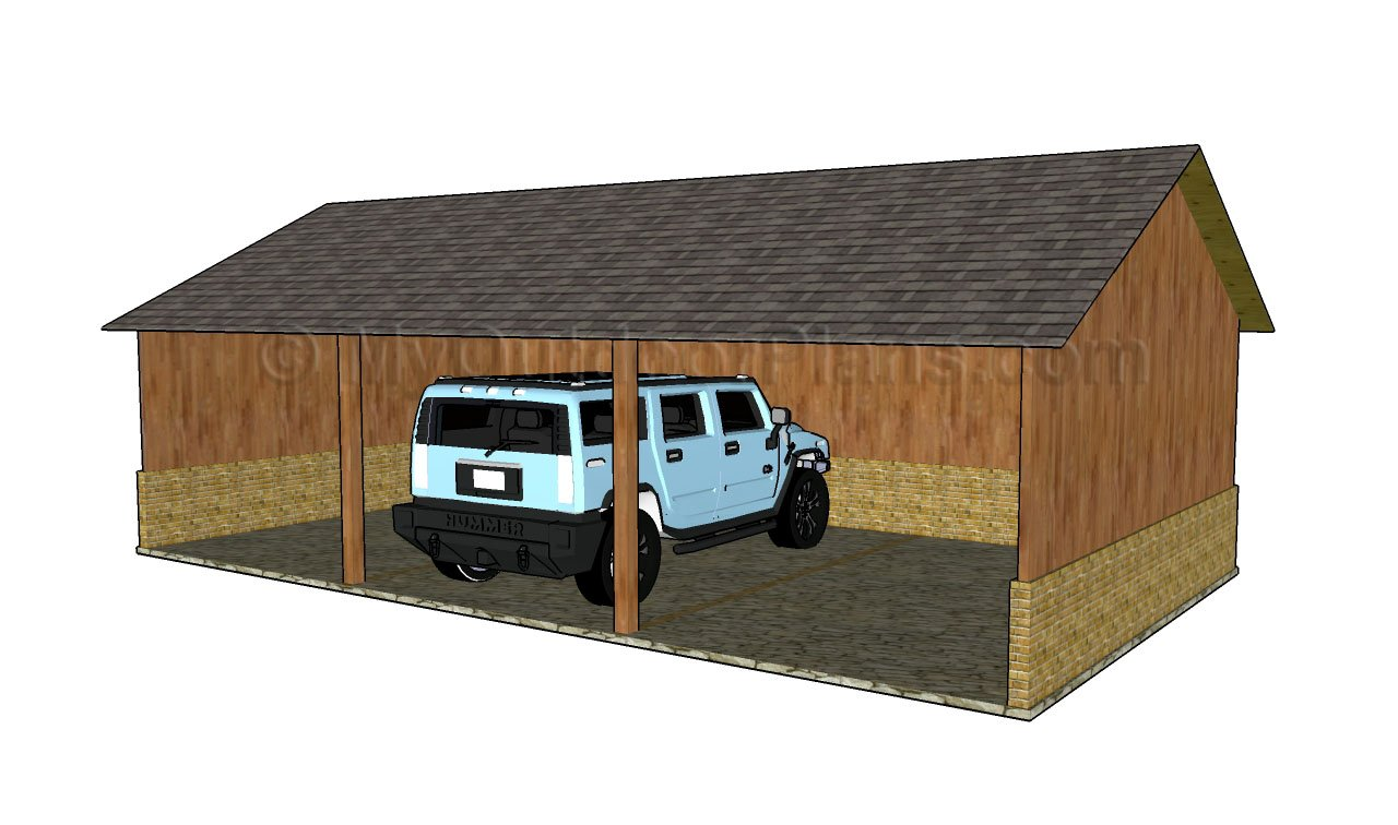 Timber double carport plans pdf woodworking for Timber carport plans