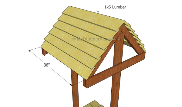 Installing the roofing slats