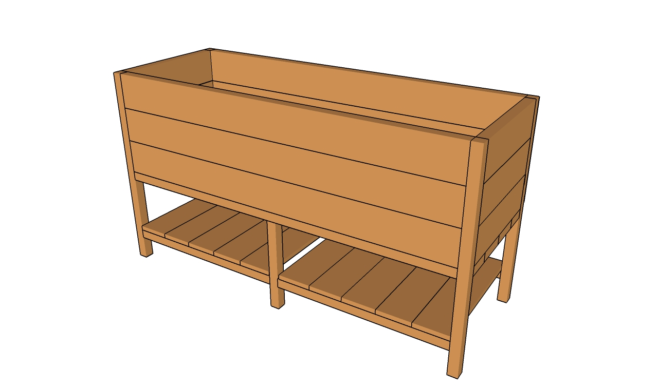 Deck planter plans myoutdoorplans free woodworking for Deck garden box designs
