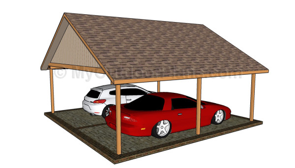 Double carport designs