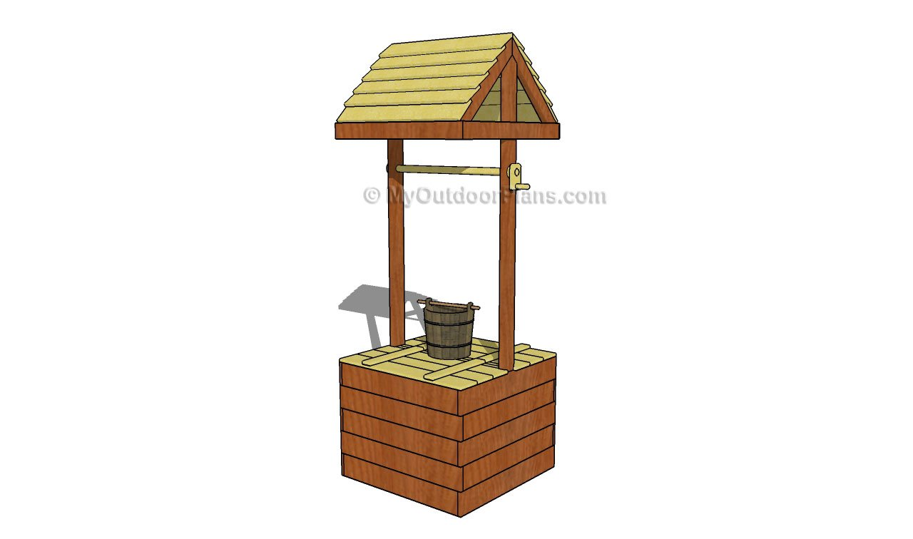 Wishing well planter plans myoutdoorplans free for Free playhouse plans