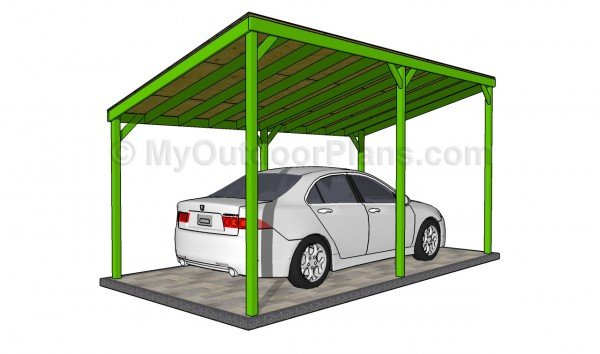Wooden carport plans myoutdoorplans free woodworking for Wood carport plans free