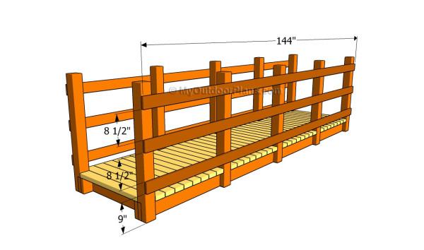 Attaching the railings