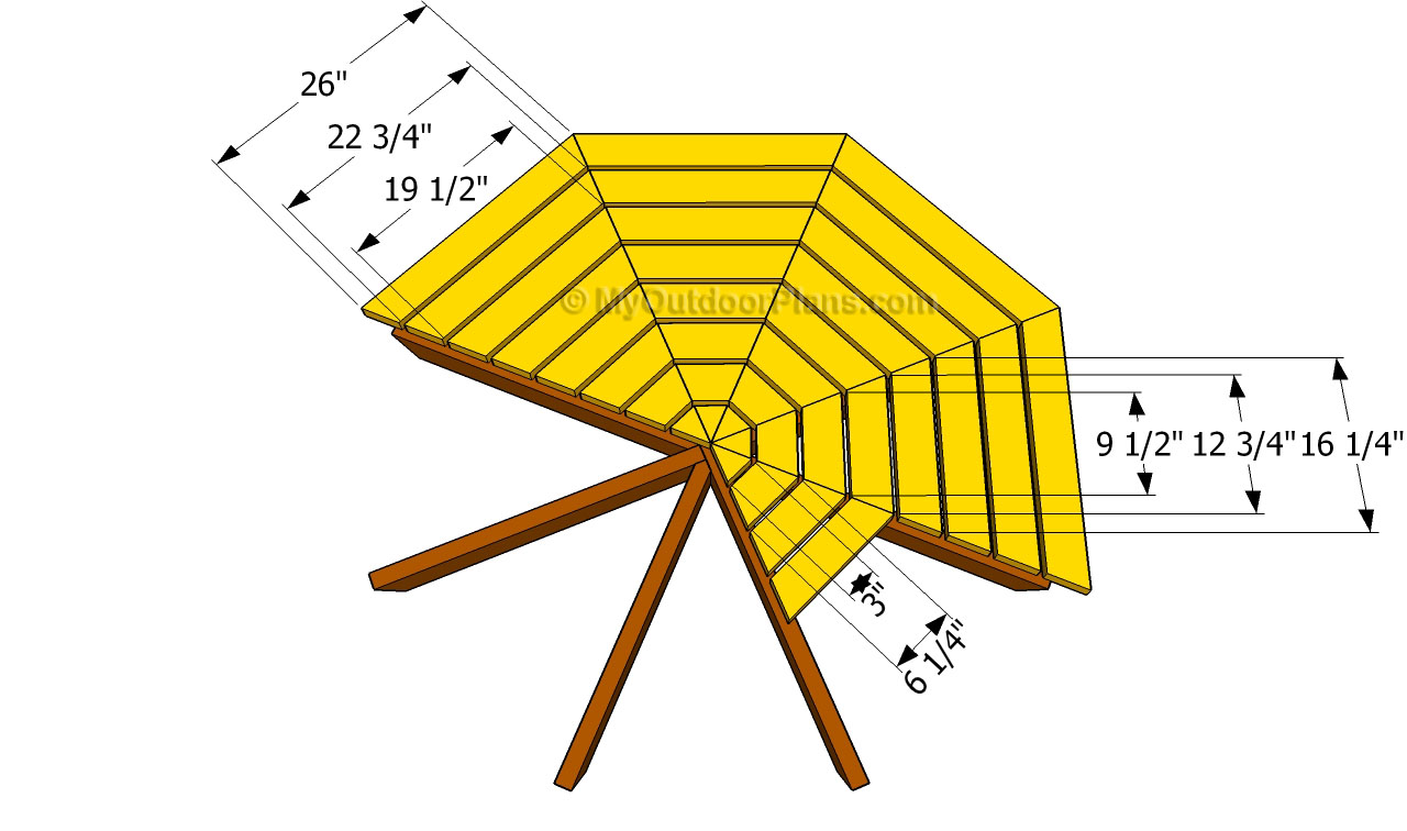 Octagon Picnic Table Plans | Free Outdoor Plans - DIY Shed ...