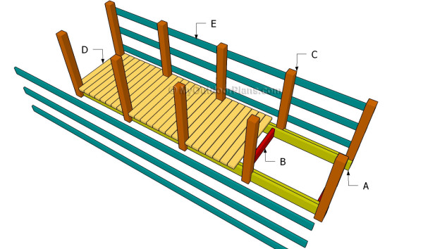 Buidling a wooden bridge