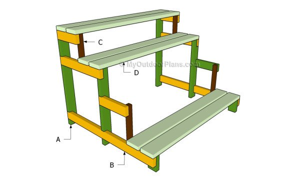 Woodwork plans for outdoor plant stands pdf plans How to build a tiered plant stand
