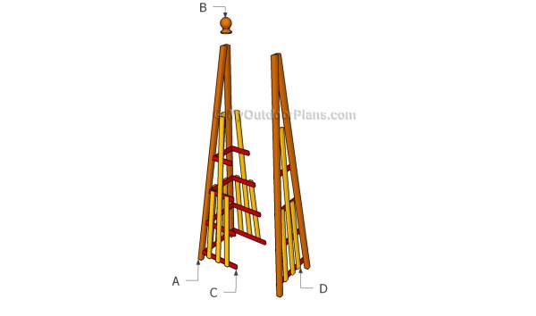 Building pyramid trellis