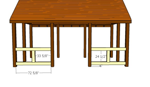 Outdoor pavilion plans myoutdoorplans free woodworking plans and projects diy shed wooden - Build rectangular gazebo guide models ...