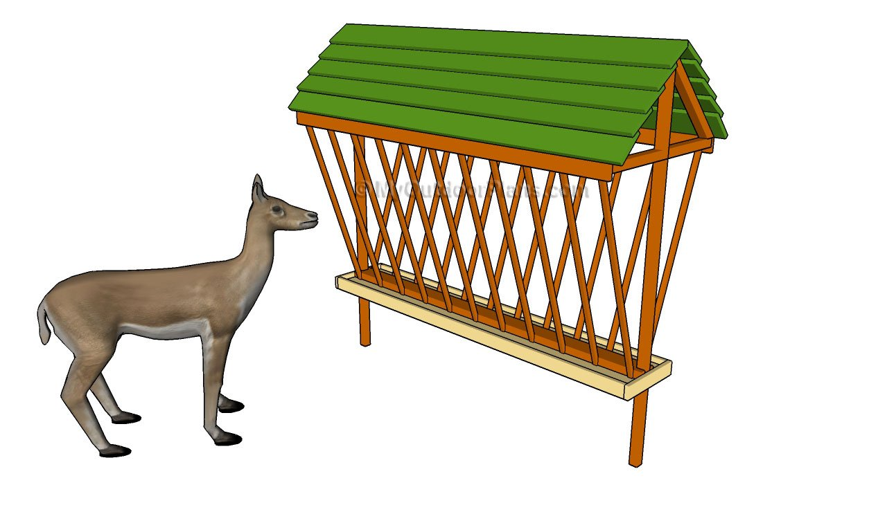 homemade wooden deer feeder plans