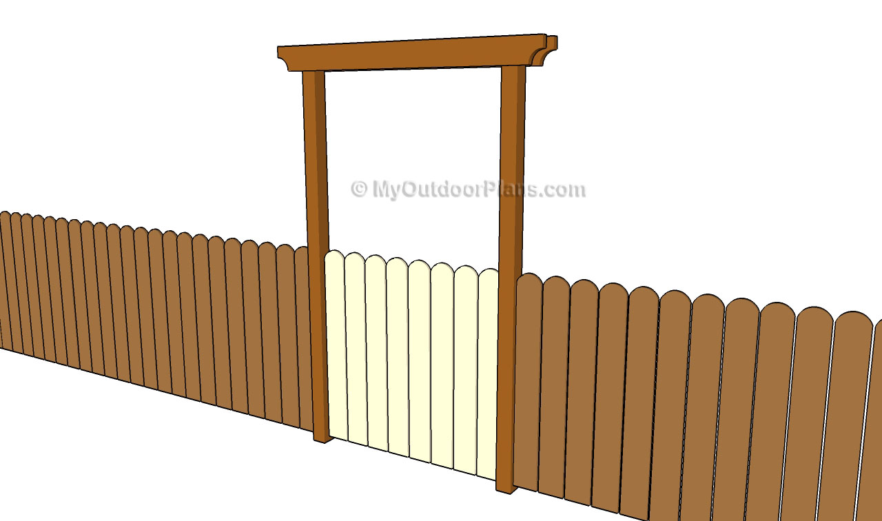 Plans wooden fence gate free wood plans for hope chest for Diy fence gate designs