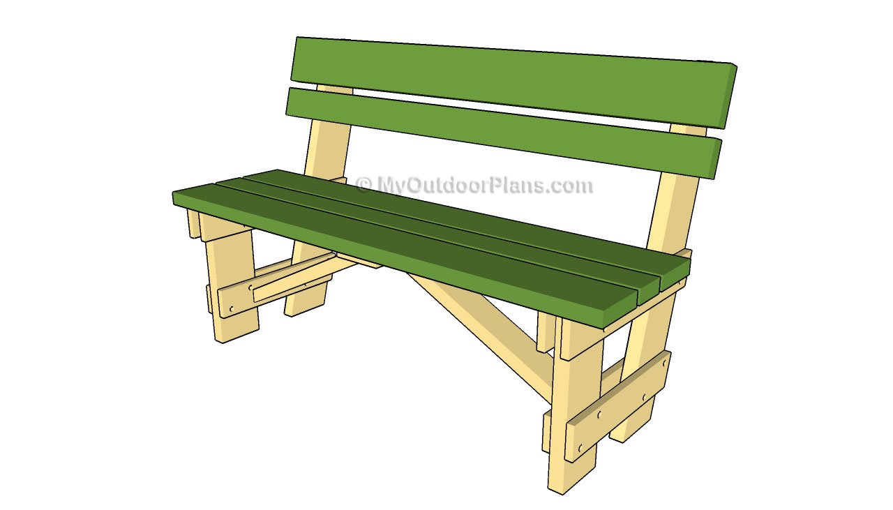 simple wooden garden bench plans | Quick Woodworking Projects