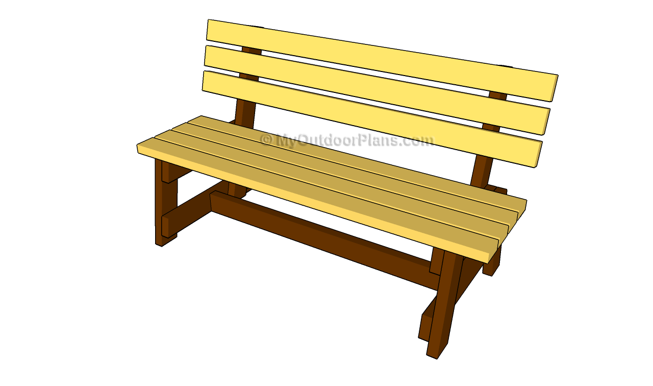 free outdoor garden bench plans | Quick Woodworking Projects