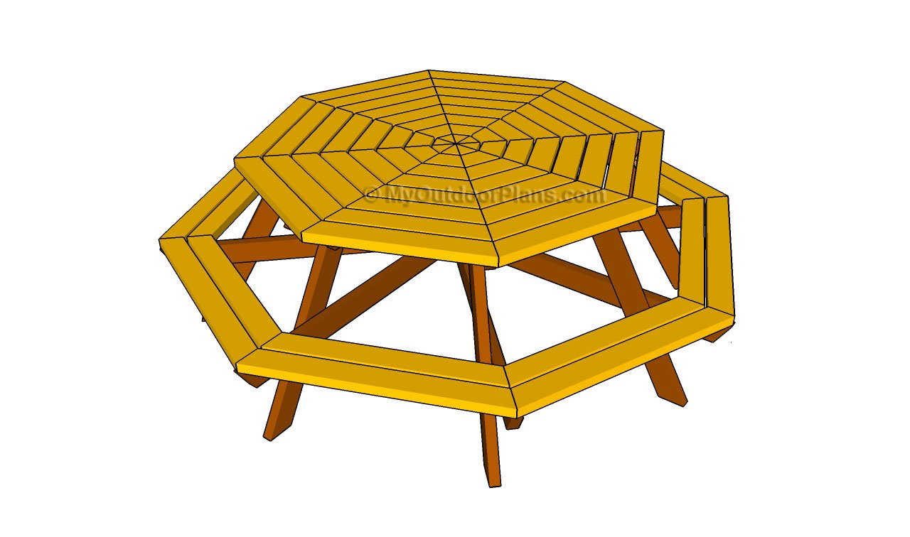 Octagon Picnic Table Free Plans - House Design And ...
