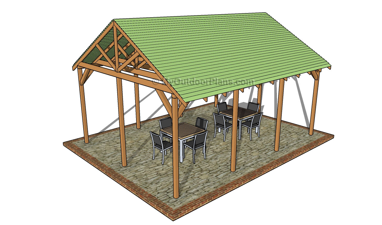 Diy picnic shelter plans plans diy free download free log Shelter house plans