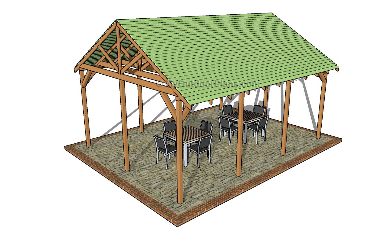 16×16 Outdoor Pavilion Plans Outdoor Shelter Plans Pergola Design