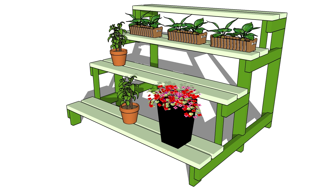 Indoor wood plant stand plans woodideas How to build a tiered plant stand