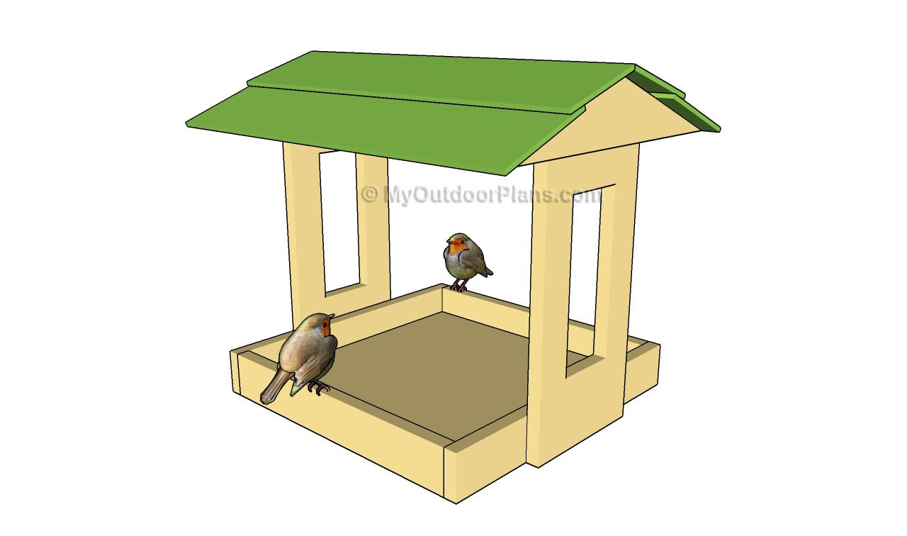 Simple bird feeder plans myoutdoorplans free for Free playhouse plans