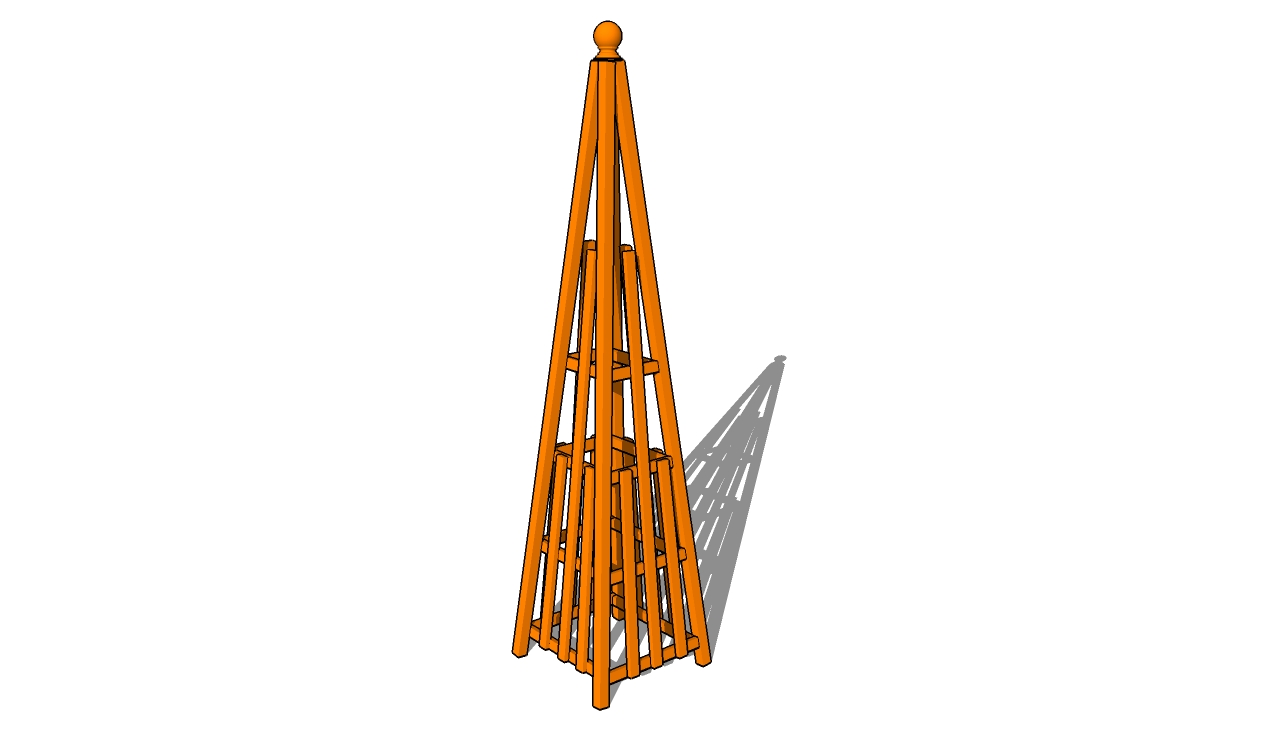 Pyramid Trellis Plans
