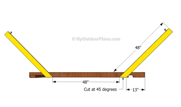 hammock stand plans free woodworking and - Wooden Hammock Stand