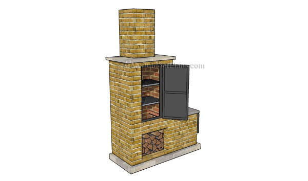 brick bbq plans pdf outdoor barbeque designs myoutdoorplans free 508