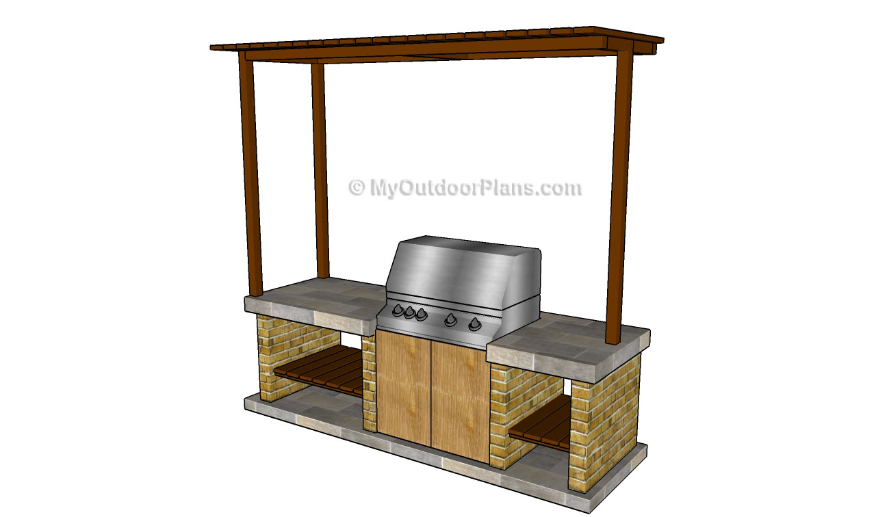 Outdoor barbeque designs free outdoor plans diy shed for Outdoor bbq designs plans