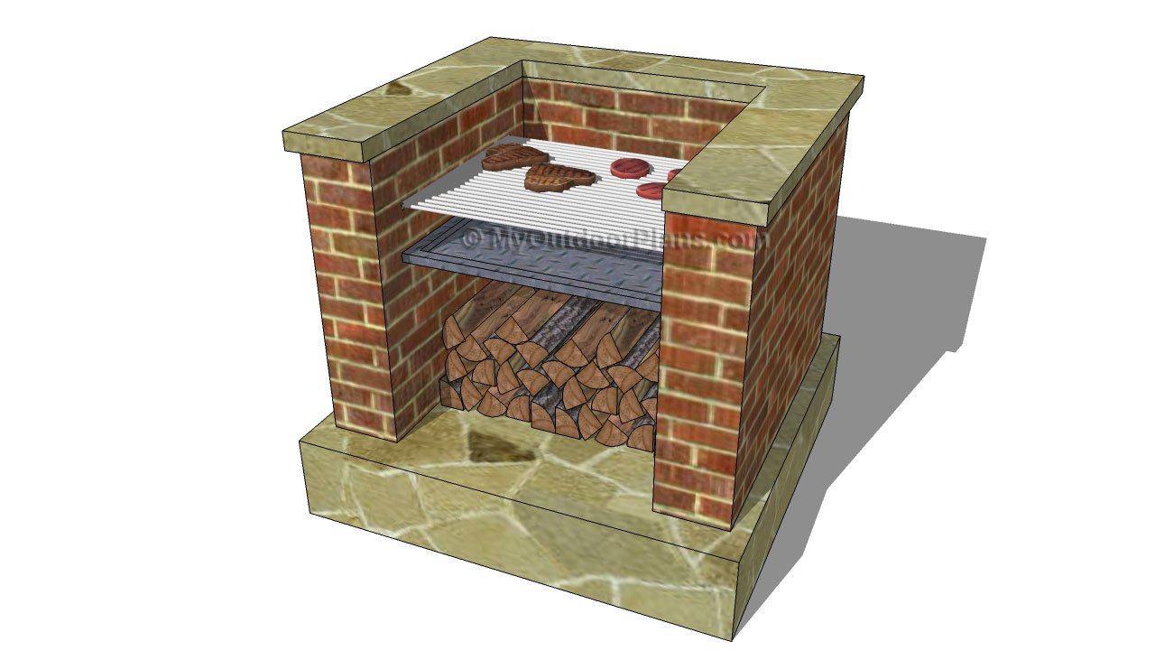 Outdoor brick bbq grill plans for Outdoor barbecue grill designs