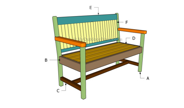 diy wooden garden bench plans