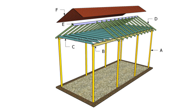 Rv carport plans myoutdoorplans free woodworking plans for Carport with storage shed plans