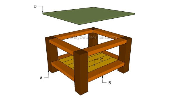 build outdoor end table