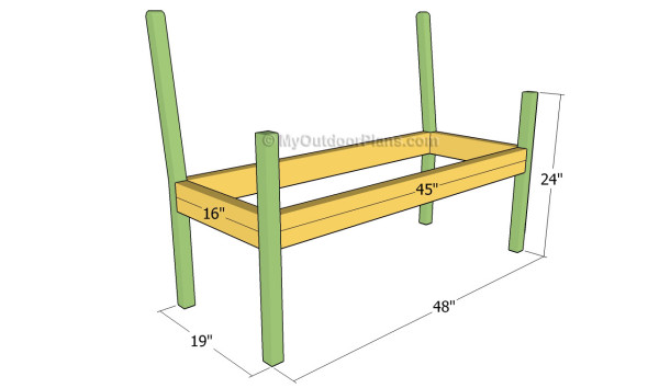 Building the bench frame