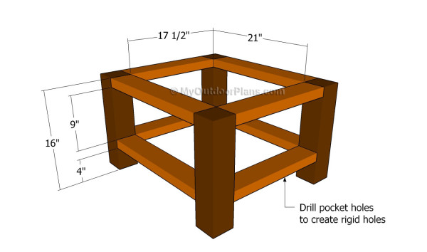 Outdoor End Table Plans MyOutdoorPlans Free Woodworking Plans - How to build an end table