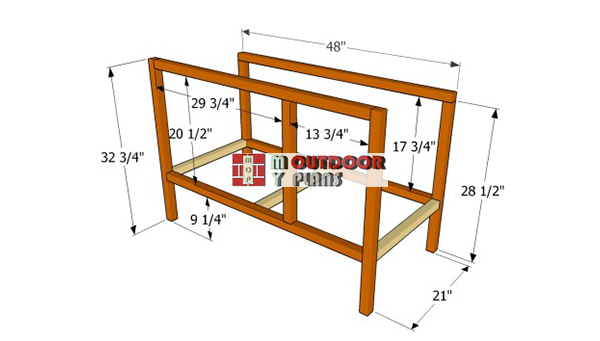 Building-the-hutch-frame