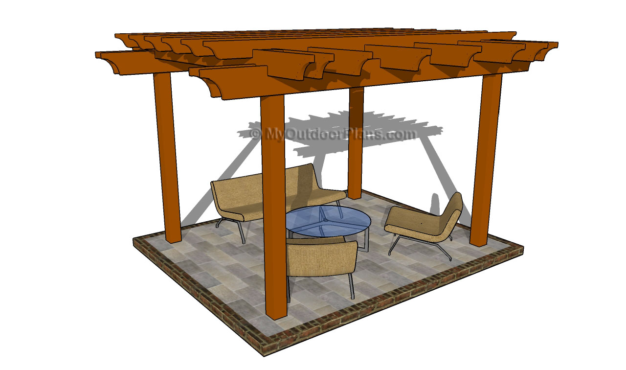 Attached pergola plans myoutdoorplans free woodworking for Patio plans free