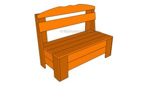 Free outdoor storage bench plans