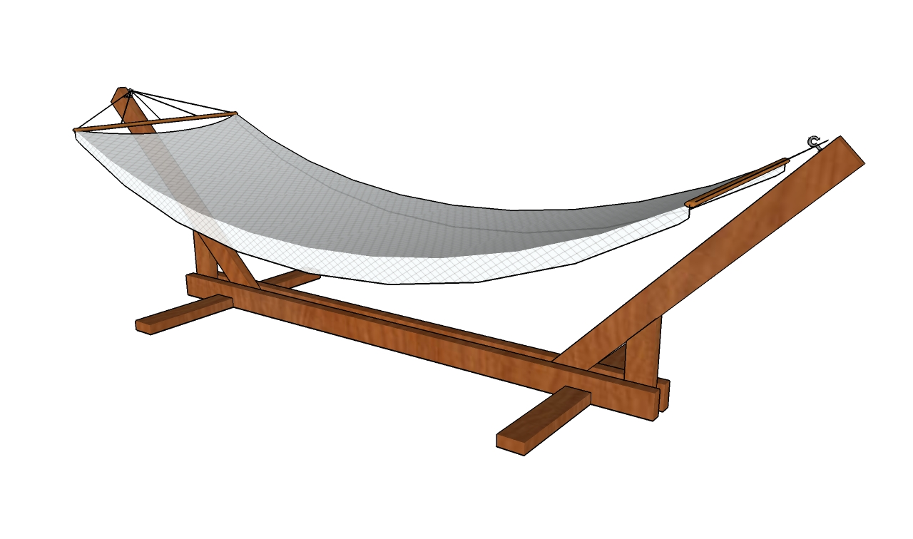 plans for wood hammock stand