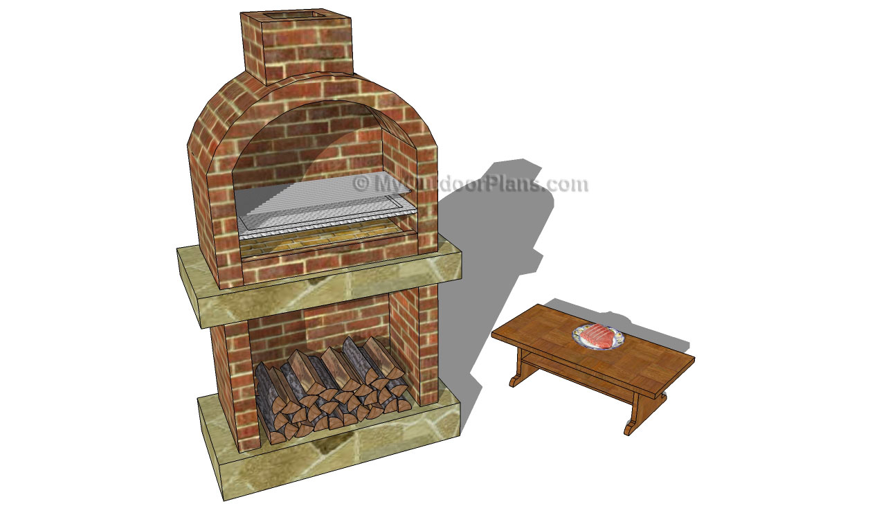 Backyard plans myoutdoorplans free woodworking plans for Outdoor bbq designs plans