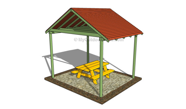 Picnic Shelter Plans | MyOutdoorPlans | Free Woodworking ...