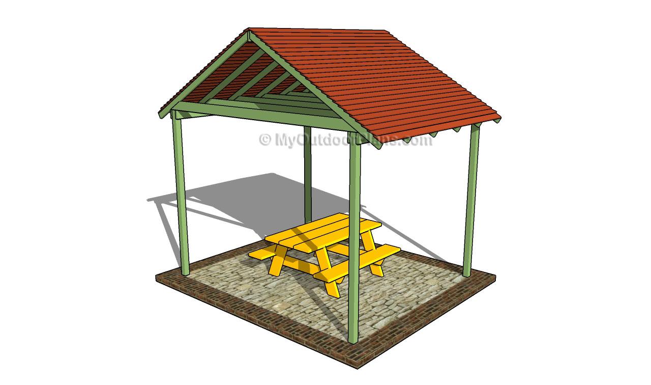 Patio Shelter Plans : Outdoor shelter plans myoutdoorplans free woodworking