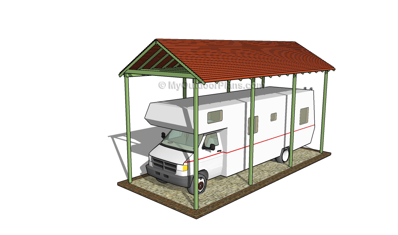 Wooden carport plans myoutdoorplans free woodworking for Free carport blueprints