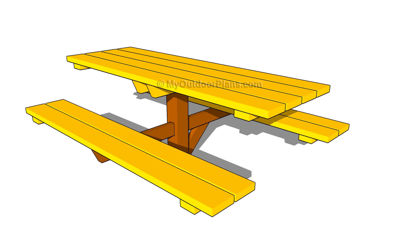Wooden Picnic Table Plans | Free Outdoor Plans - DIY Shed ...