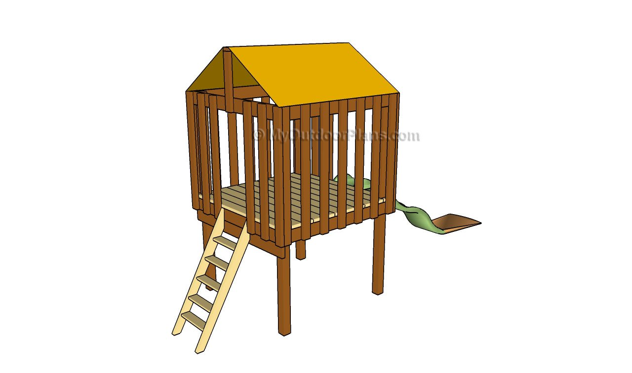 Backyard fort plans free outdoor plans diy shed for Free playhouse plans
