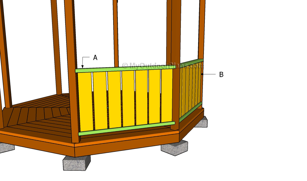 How to Build Gazebo Railings