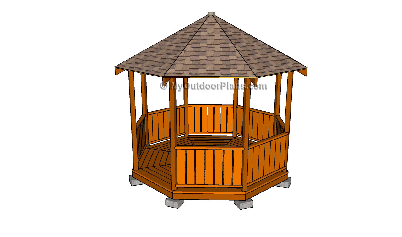 How To Build Gazebo Railings Free Outdoor Plans Diy